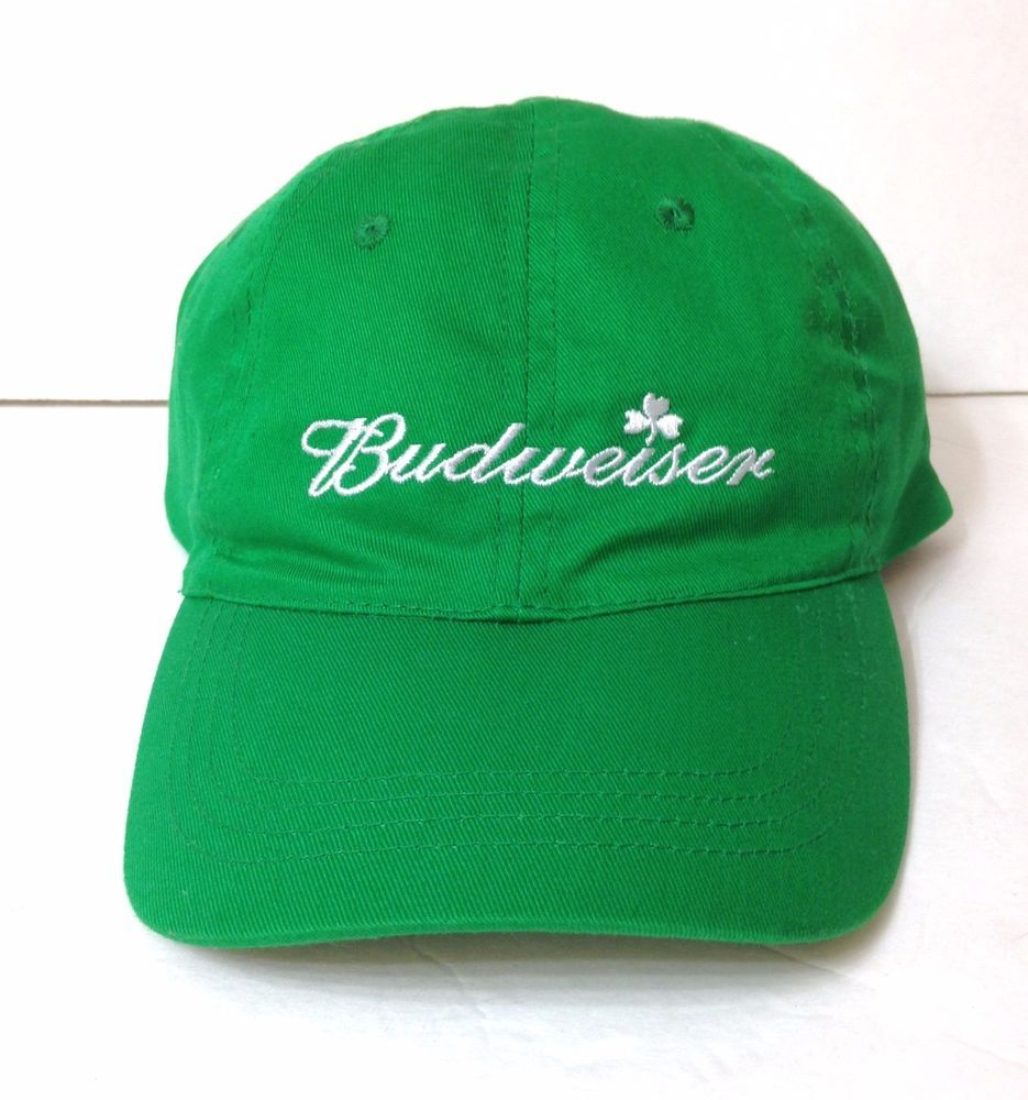 cc0db55df92 BUDWEISER SHAMROCK HAT Green St Patricks Day Lightweight Men Women Beer Dad  Cap  Budweiser  BaseballCap