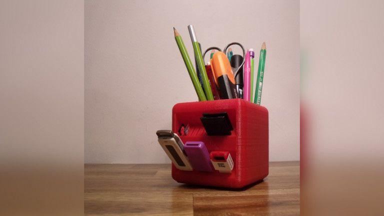 Image Of Nutzliche 3d Druck Ideen The Little Box Stiftehalter 3d Drucker 3d Drucker Vorlagen Drucken