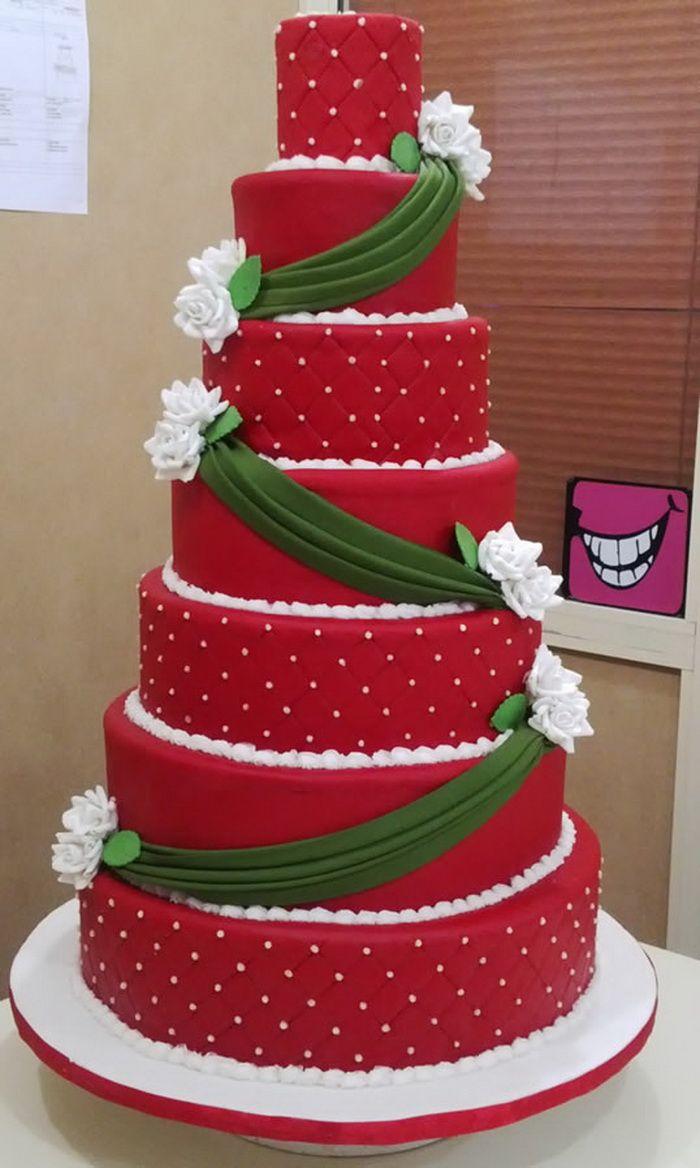 Red Velvet Wedding Cake Designs