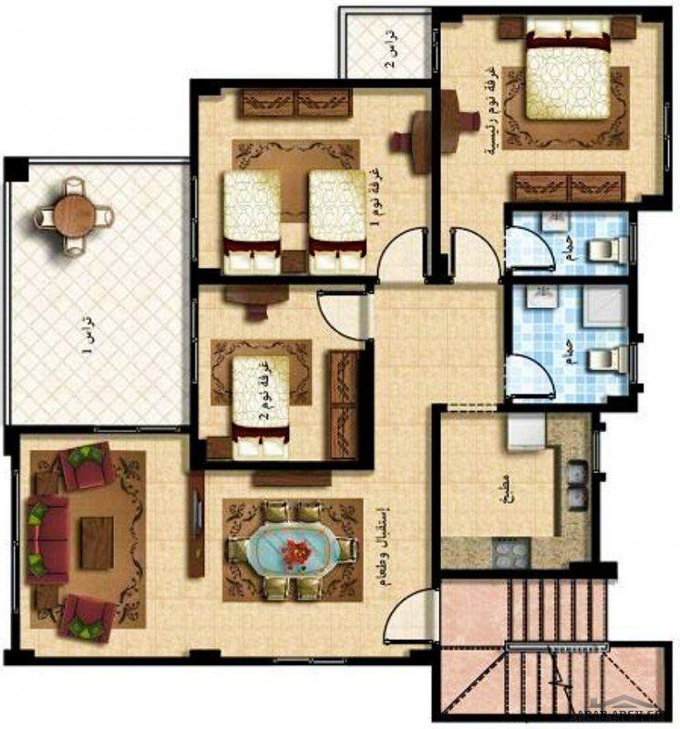 نموذج شاليه طابق ونصف راس سدر البحر الاحمر House Design Design House Plans