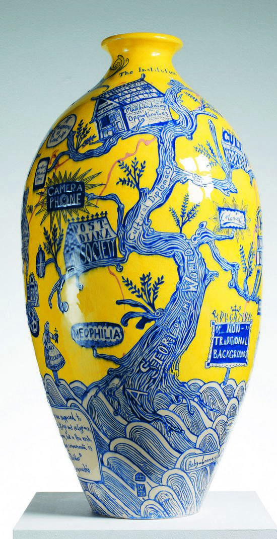 "Grayson Perry: ""I love fakes for they make us think about what it is we see in the authentic. About how much of our awe in front of a great historical artefact is in its inherent beauty and how much is to do with its auspicious provenance."""