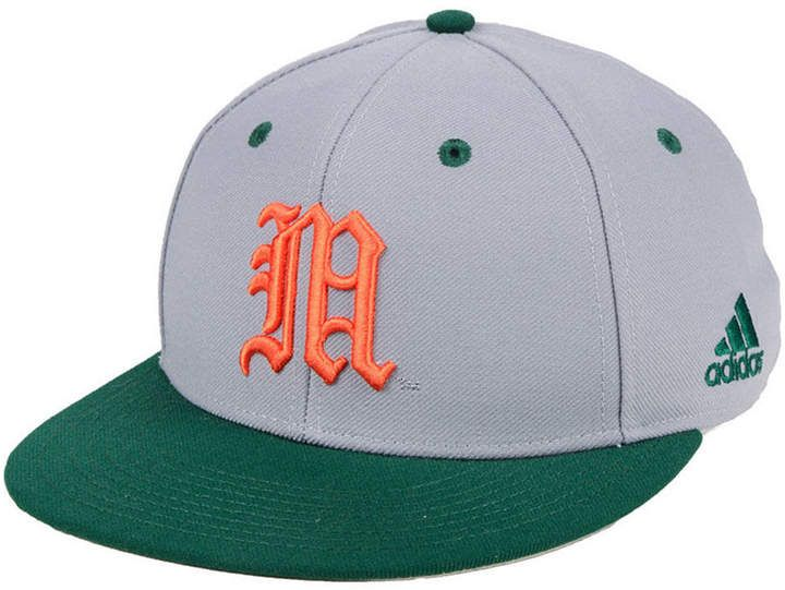 0aa48dfe8a2 adidas Miami Hurricanes On-Field Baseball Fitted Cap