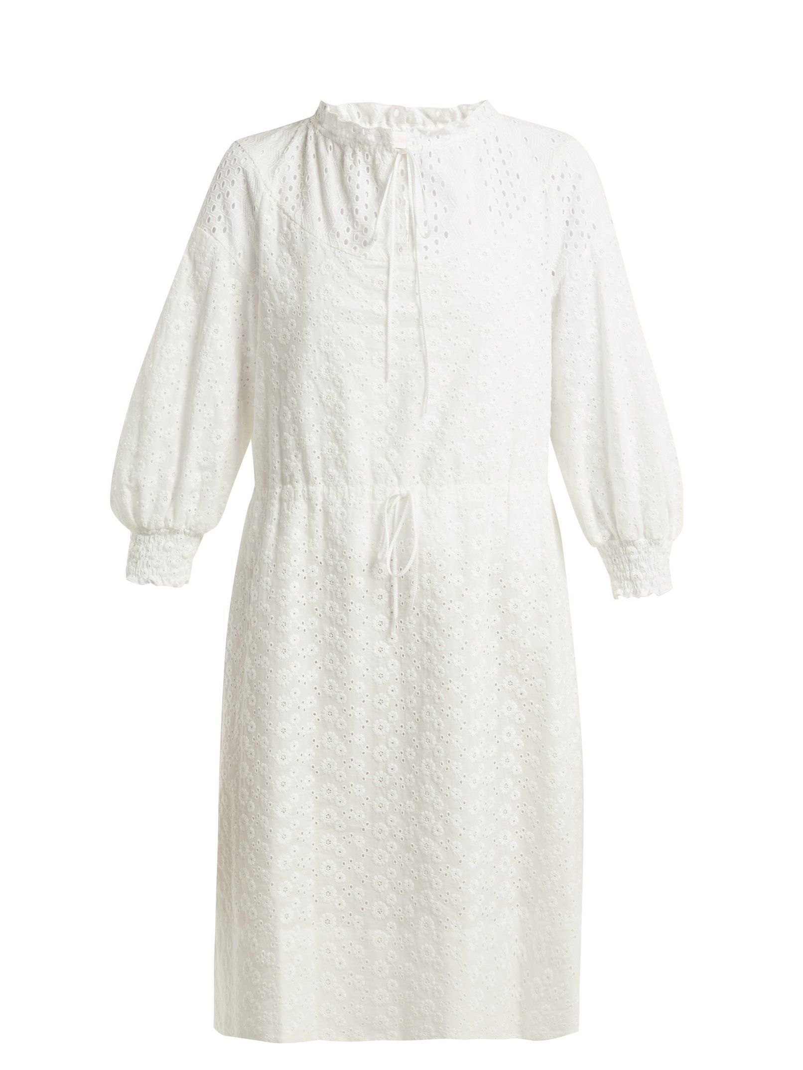 a2308610 Broderie-anglaise cotton dress | See By Chloé | MATCHESFASHION.COM ...