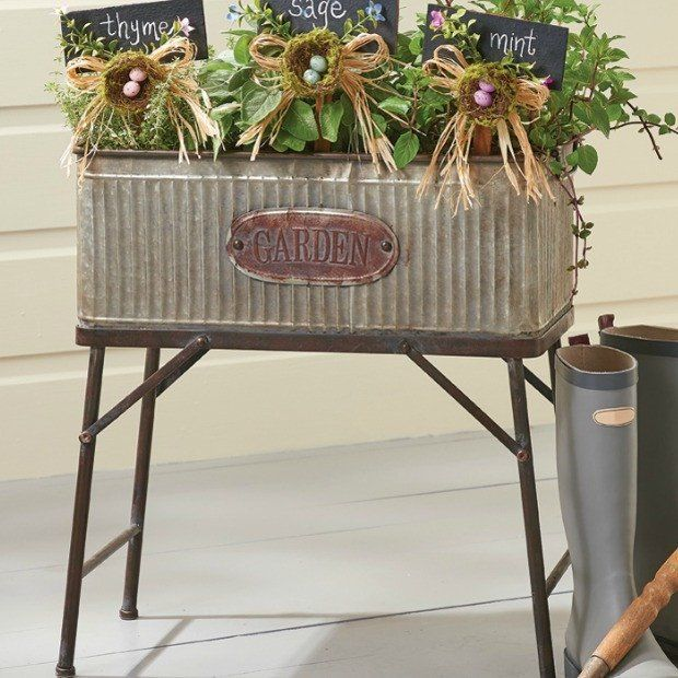 Awesome Tall Metal Garden Plant Stand