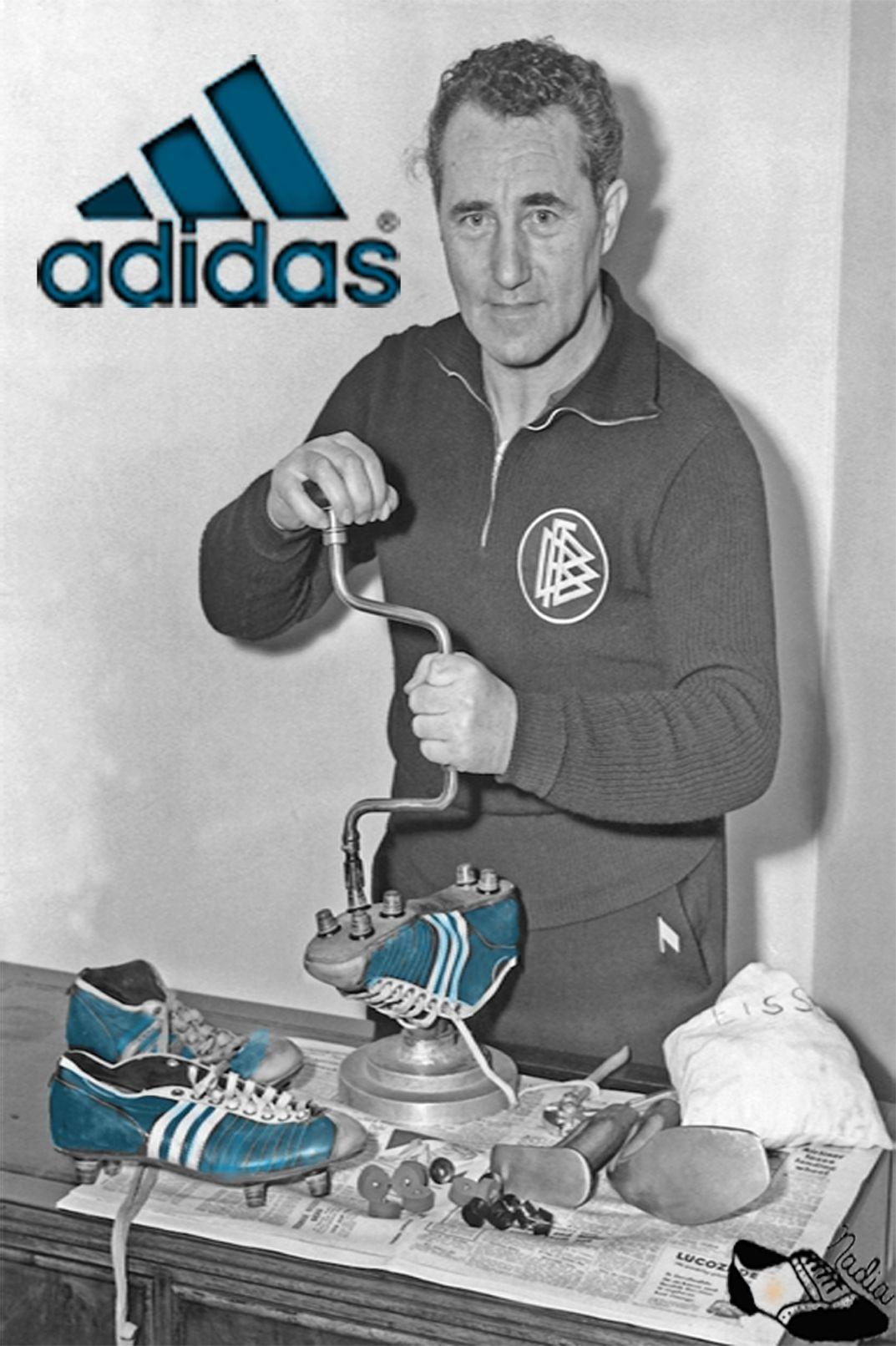 Adidas paper adolf adi dassler is
