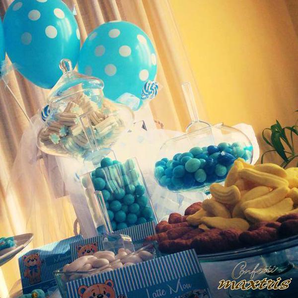 Confetti maxtris evento confettata sweet table for Idee buffet comunione