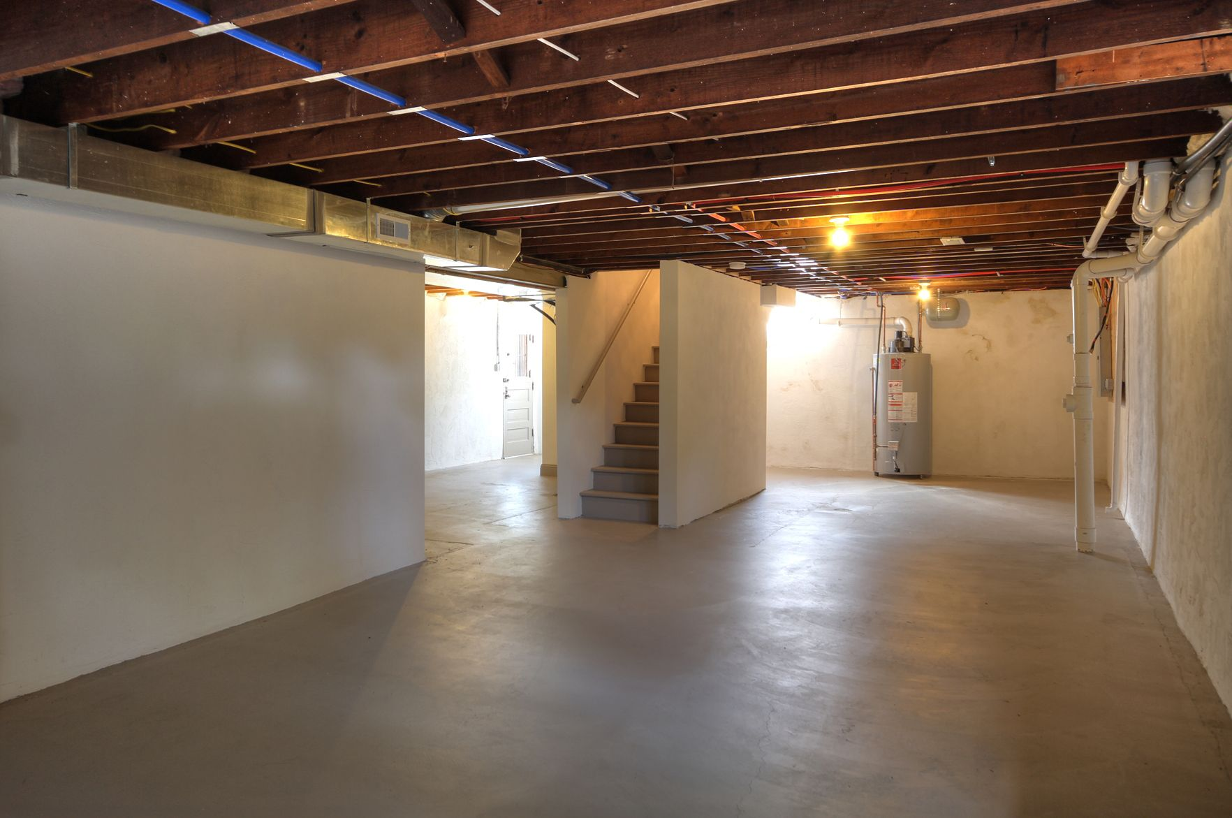 unfinished basement 29 rio vista 63124 pinterest basements small playroom and exposed beams. Black Bedroom Furniture Sets. Home Design Ideas