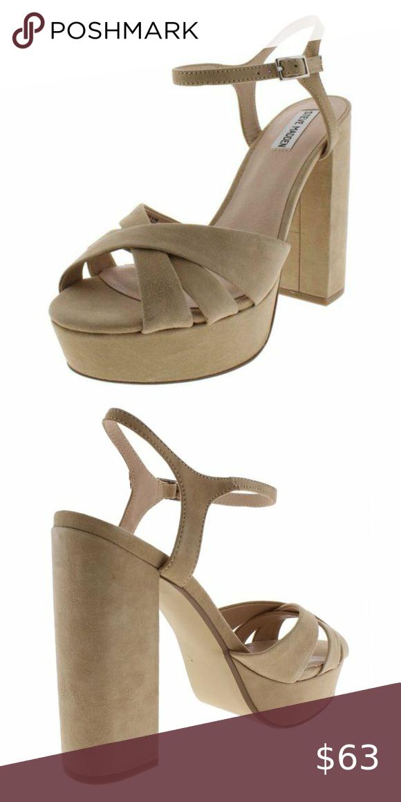 Tan platform sandals, Steve madden shoes