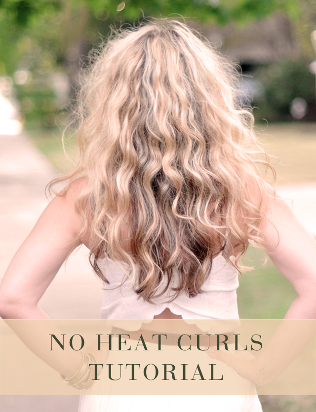 Learn how to curl your hair without a curling iron's harmful heat.
