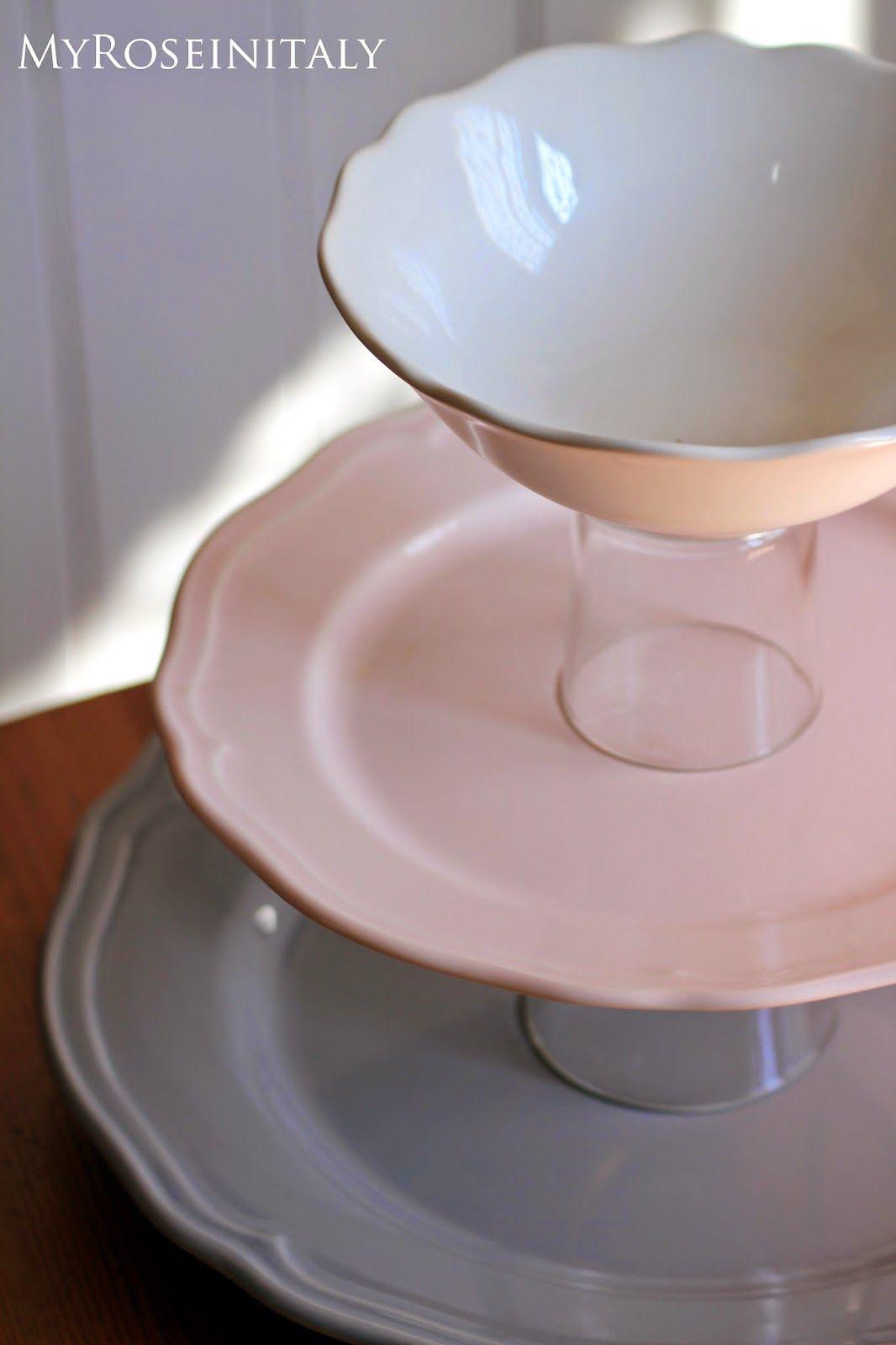 My RoseinItaly: Alzata in ceramica fai da te | Ceramiche ...
