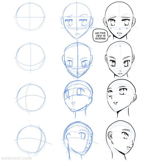 How To Draw Anime Tutorial With Beautiful Anime Character Drawings Anime Character Drawing Anime Drawings Anime Art Tutorial