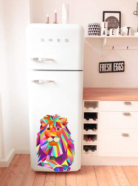 Kühlschrank Deko.Grafik Leonard Löwe Als Kühlschrank Deko Grafikdesign