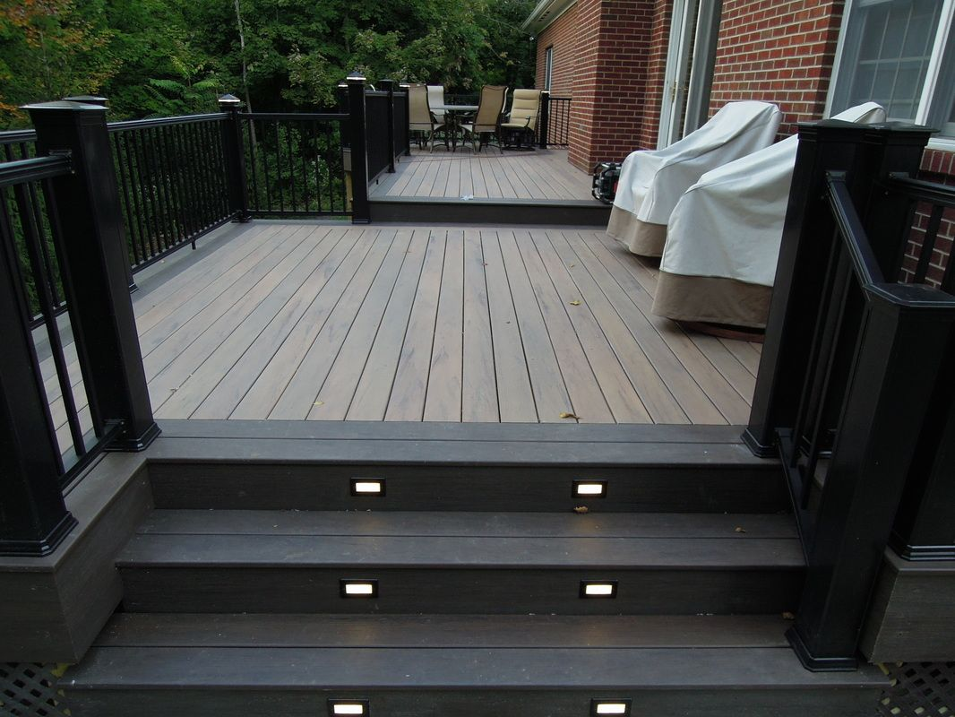 I Like The Contrasting Border And Steps Decks Backyard Deck Furniture Layout Building A Deck