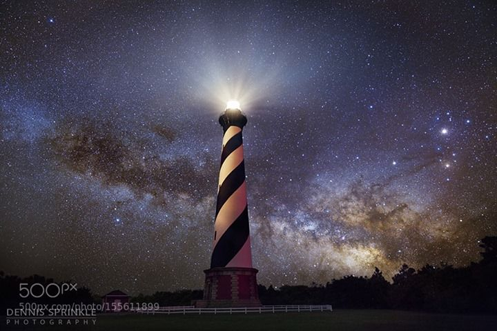 Cape Hatteras Lighthouse And Milky Way This Is The Cape Hatteras
