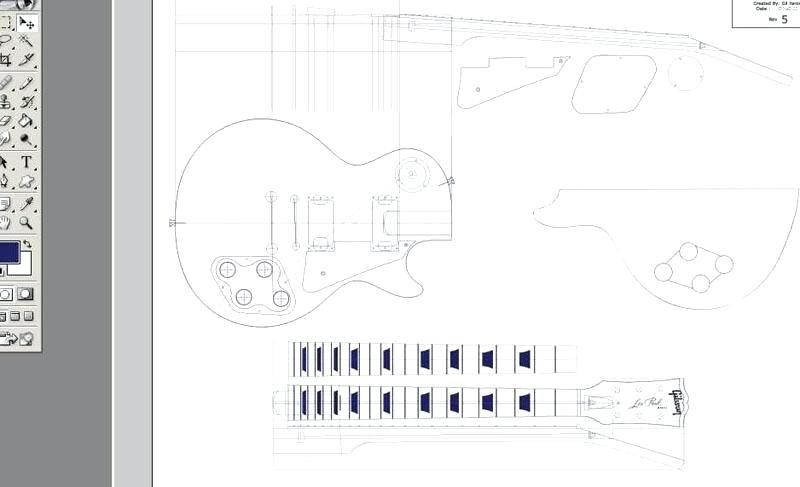 Les Paul Routing Template | Les Paul Guitar Template Guitars Les ...