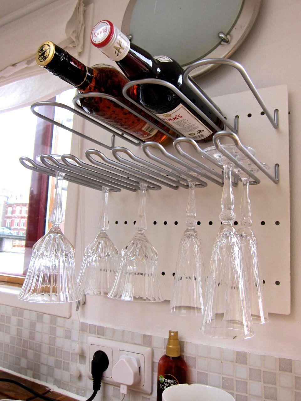 Wine Enthusiast Hanging Mahogany Wine Glass Rack 670 14 Best