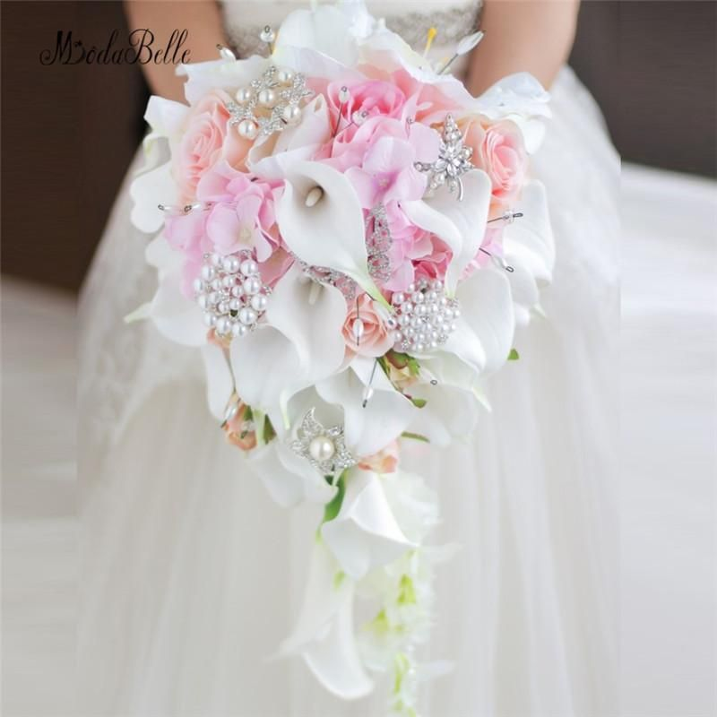 Wedding Flowers Bridal Bouquet Prices: Modabelle Western Style Wedding Bouquet For Brides Crystal