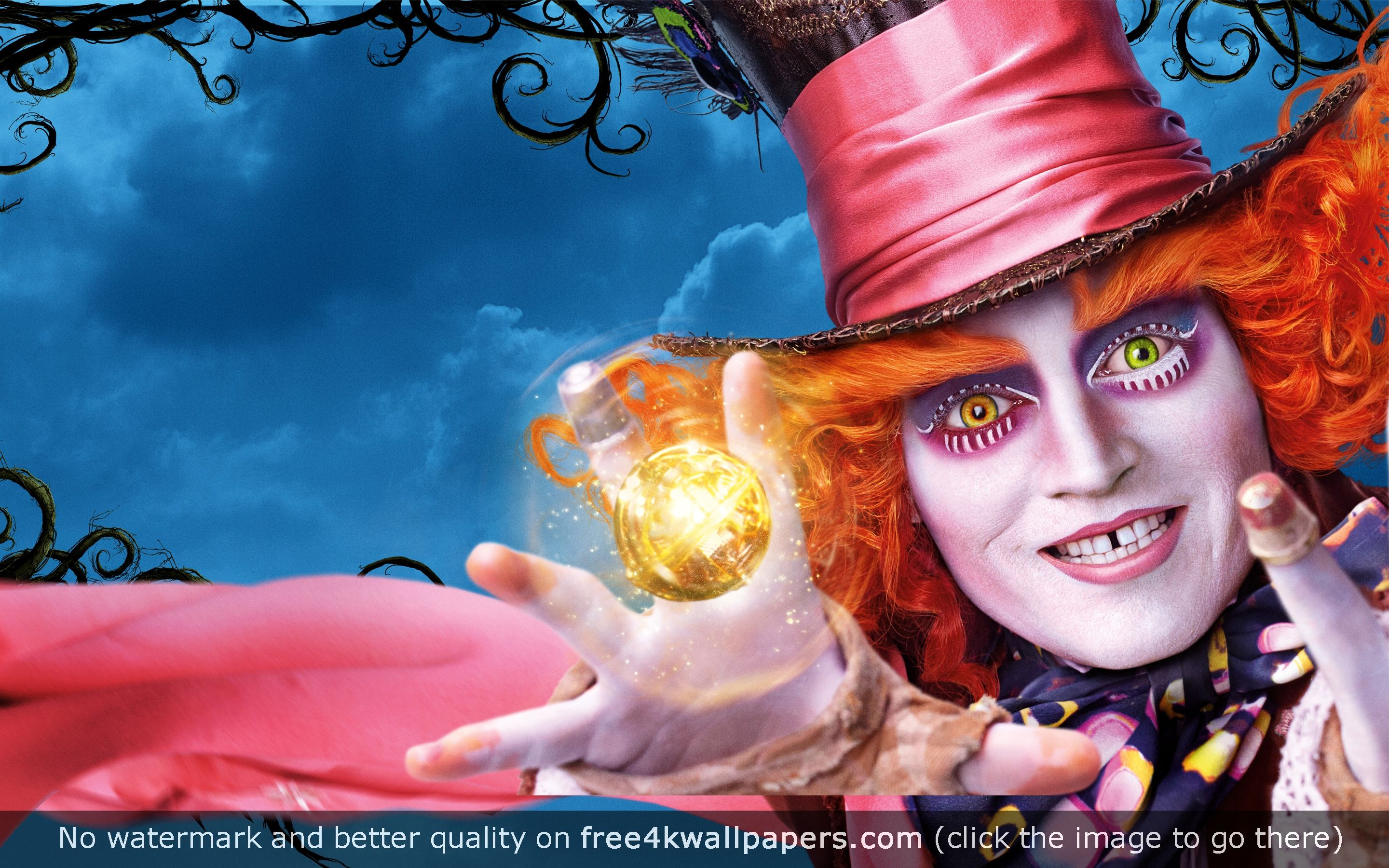 Johnny Depp Alice Through the Looking Glass wallpaper