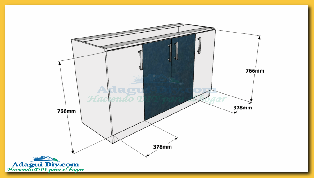Como hacer muebles de cocina plano mueble bajo mesada de for Planos para fabricar una cocina cohete