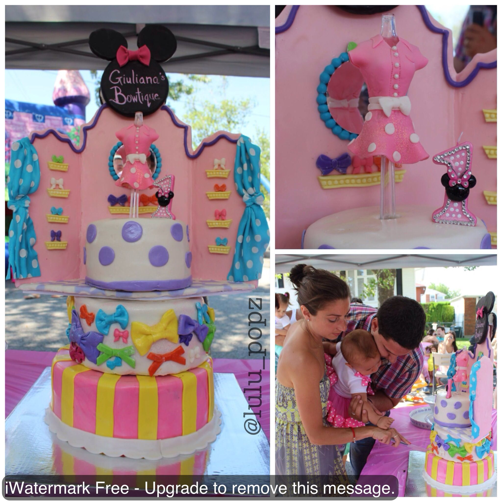 first birthday minnie mouse bowtique cake made by me for ordering first birthday minnie mouse bowtique cake made by me for ordering info pls email lulupopznyc