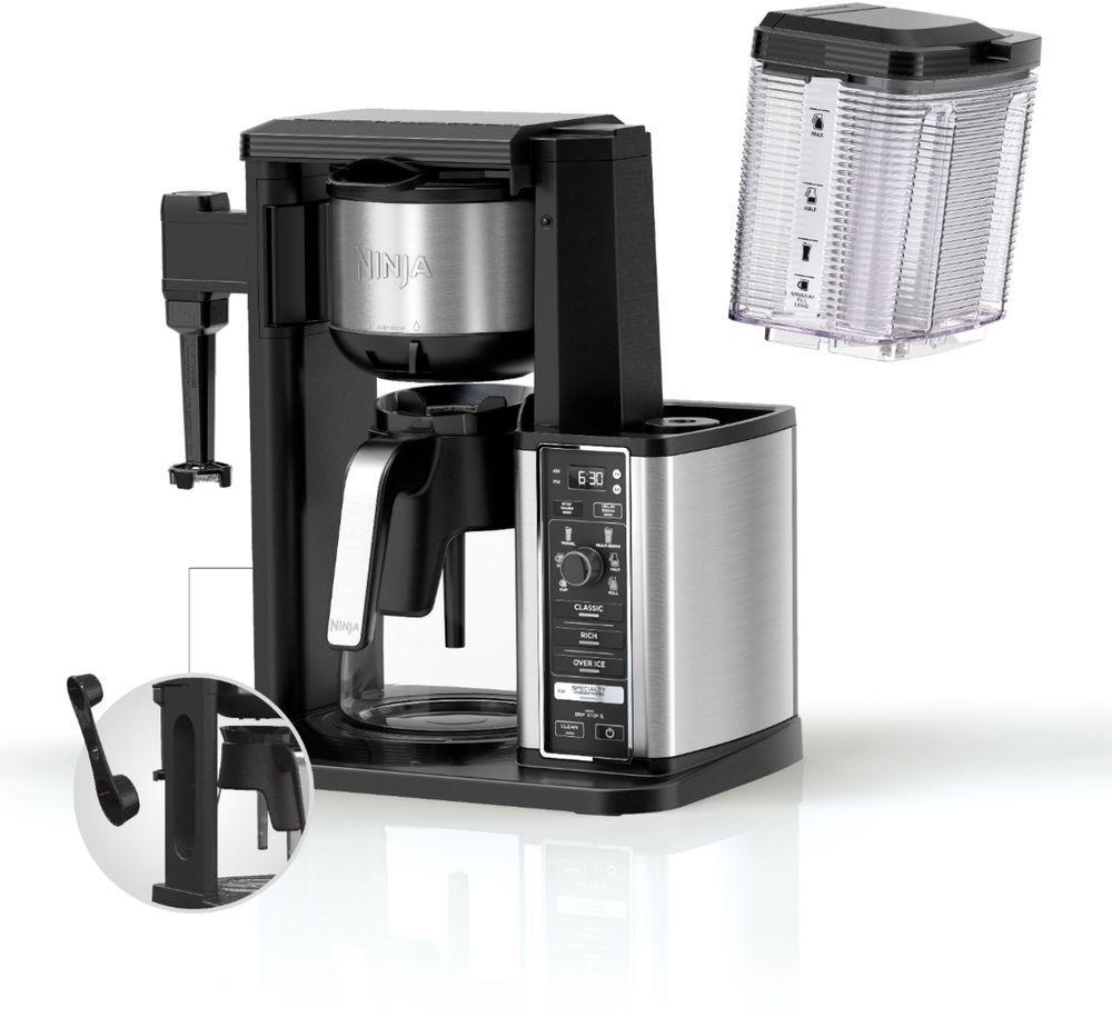Ninja 10 Cup Coffee Maker Black Stainless Steel Cm401 Coffee Maker Single Coffee Maker