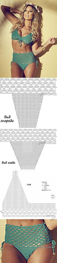 вязание крючком купальники Trajes De Baño De Crochet Traje De