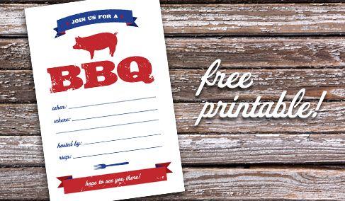 parkside prints blog free printable bbq invitation