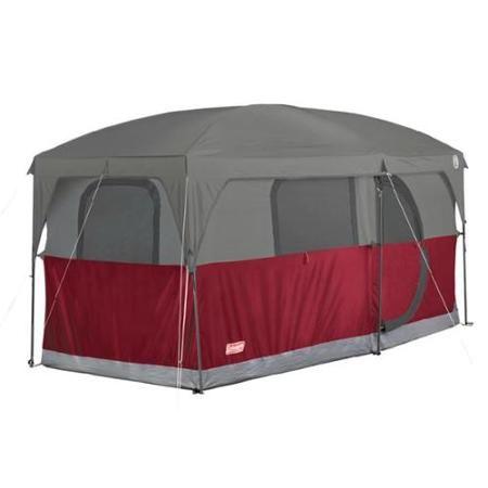 COLEMAN H&ton 6 Person Family C&ing Cabin Tent w/ WeatherTec | 13u0027 ...  sc 1 st  Pinterest & COLEMAN Hampton 6 Person Family Camping Cabin Tent w/ WeatherTec ...