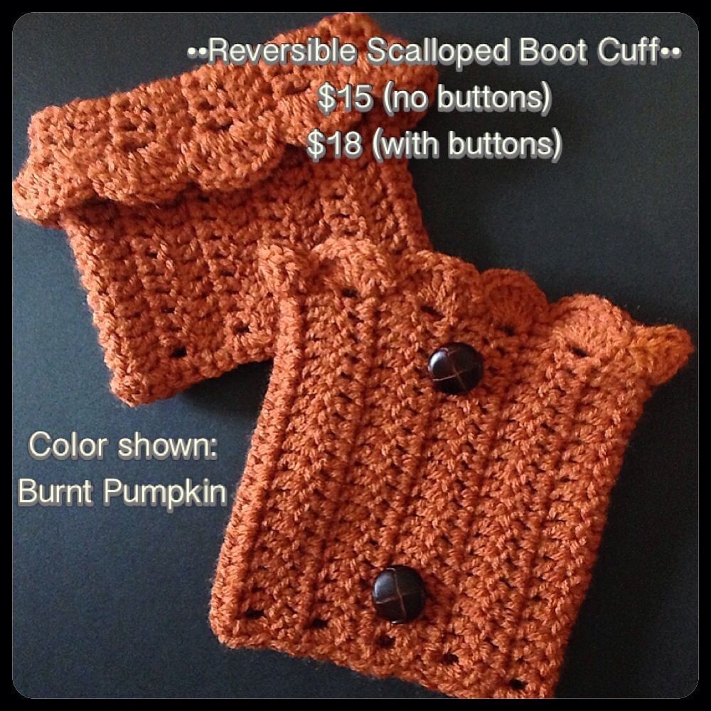 Crochet Reversible Boot Cuffs yarnontheporch@gmail.com | Yarn on the ...
