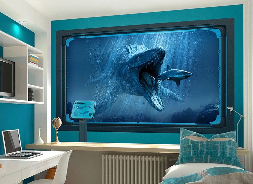 JURASSIC WORLD AQUARIUM | Wall graphics, Wall decals ...