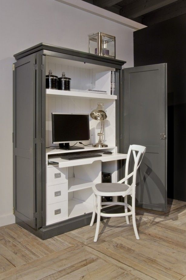 leuke computer kast!! | kasten | pinterest | workspaces, office, Deco ideeën