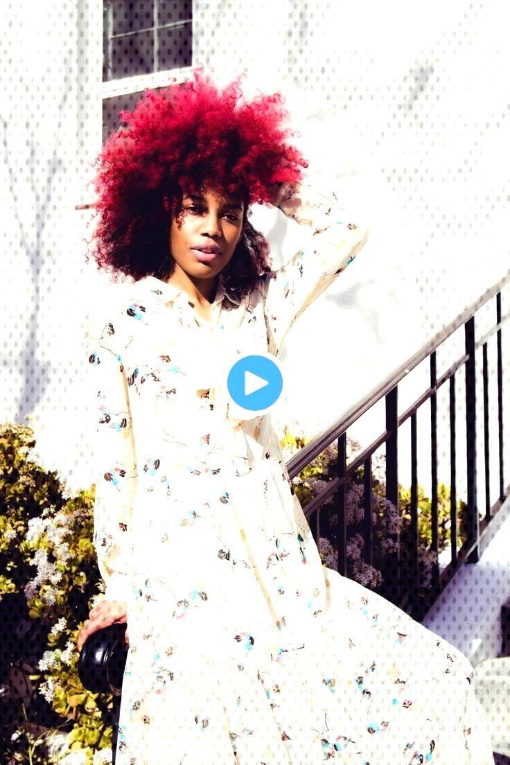 Coloration couleur rouge cheveux crépus afro naturels, ...