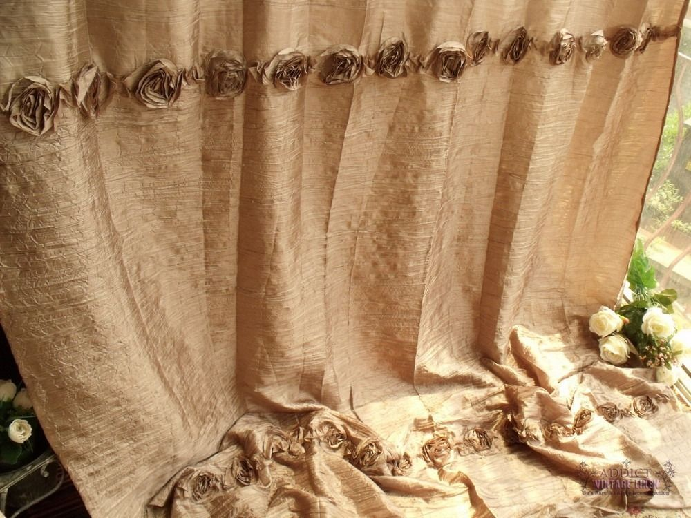 SHABBY RUSTIC CHIC Shower Curtain Wrinkled 78 Beach Cottage Farmhouse