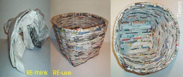 mand van oude kranten
