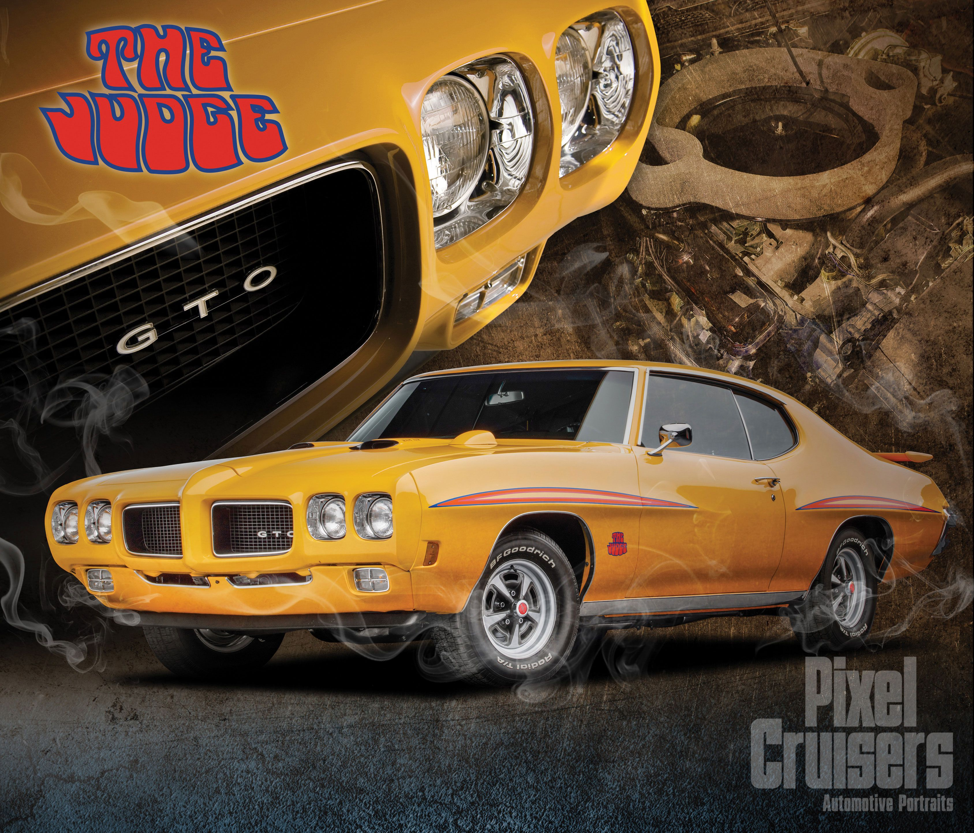 "pontiac gto ""american muscle"" calendar page from the 2016 o'reilly"