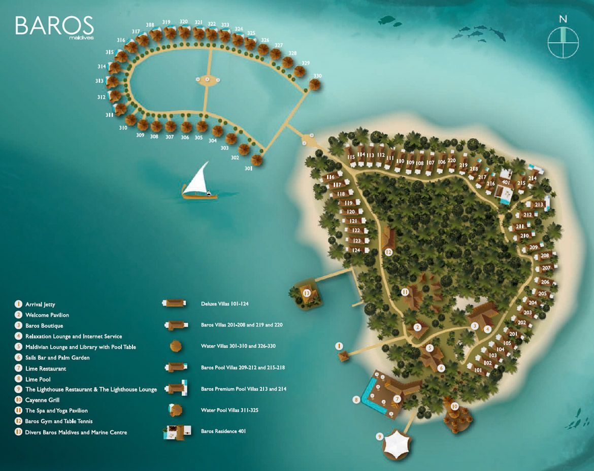 Baros Maldives Island Map Maldives Floor Plan Maldives