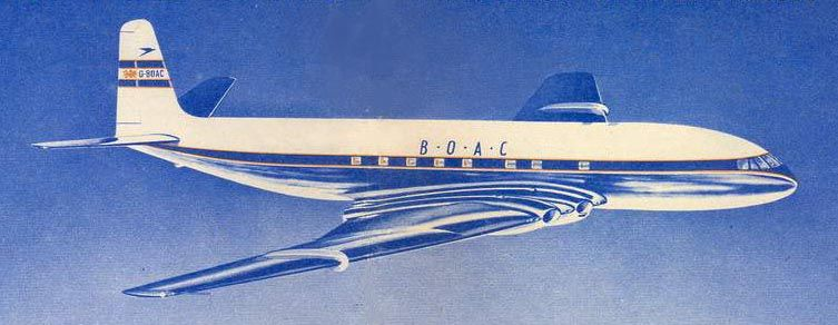Image result for 1952 – The world's first ever jet airliner, the De Havilland Comet 1