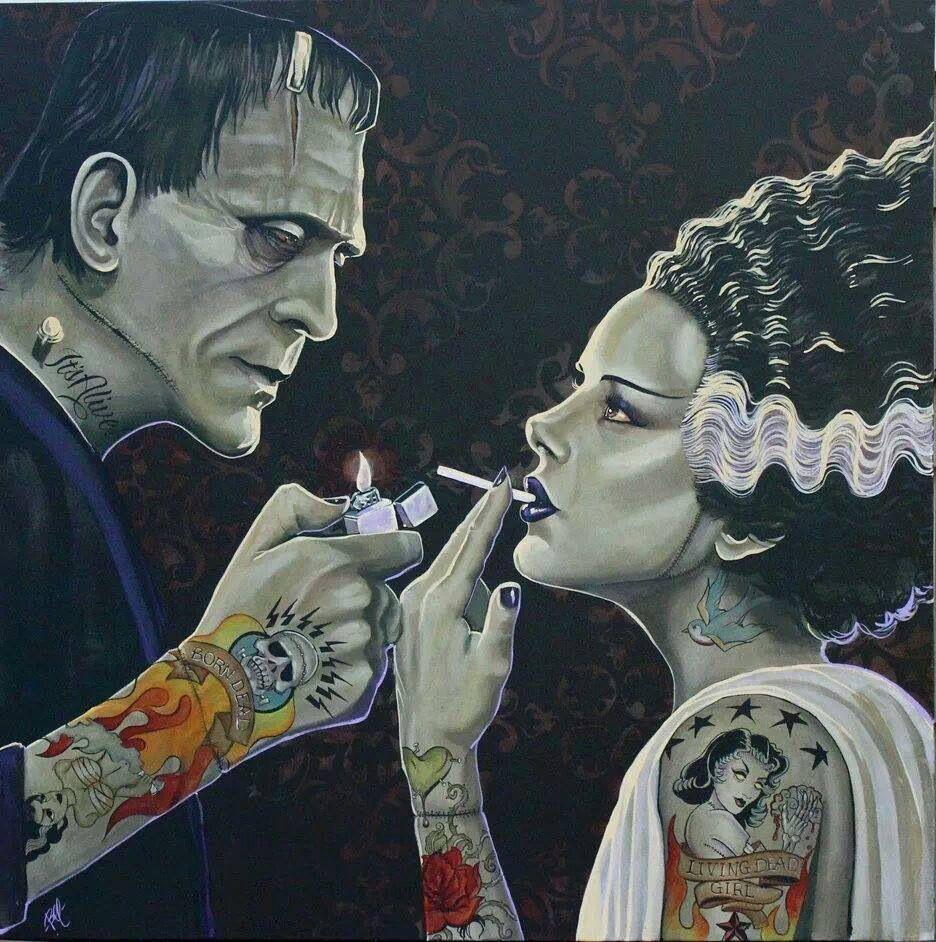 Frankenstein's Monster his bride __ LXXI __ … | Pinteres…