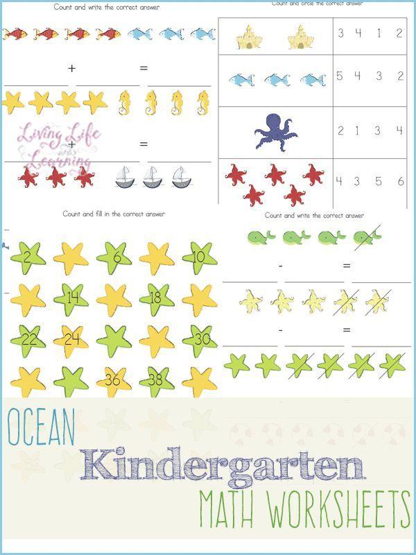 Ocean Kindergarten Math Worksheets Oceans Beaches Kindergarten