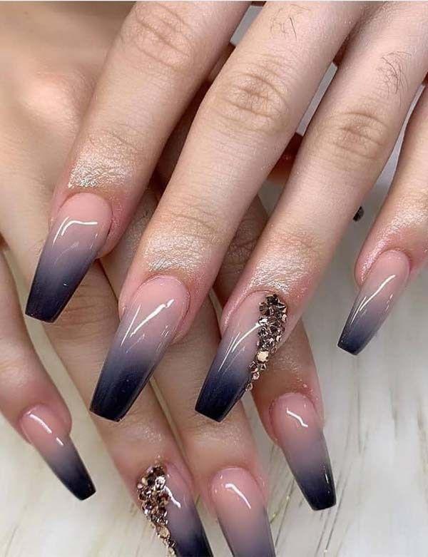 32 most beautiful bridal Wedding nails' design ide