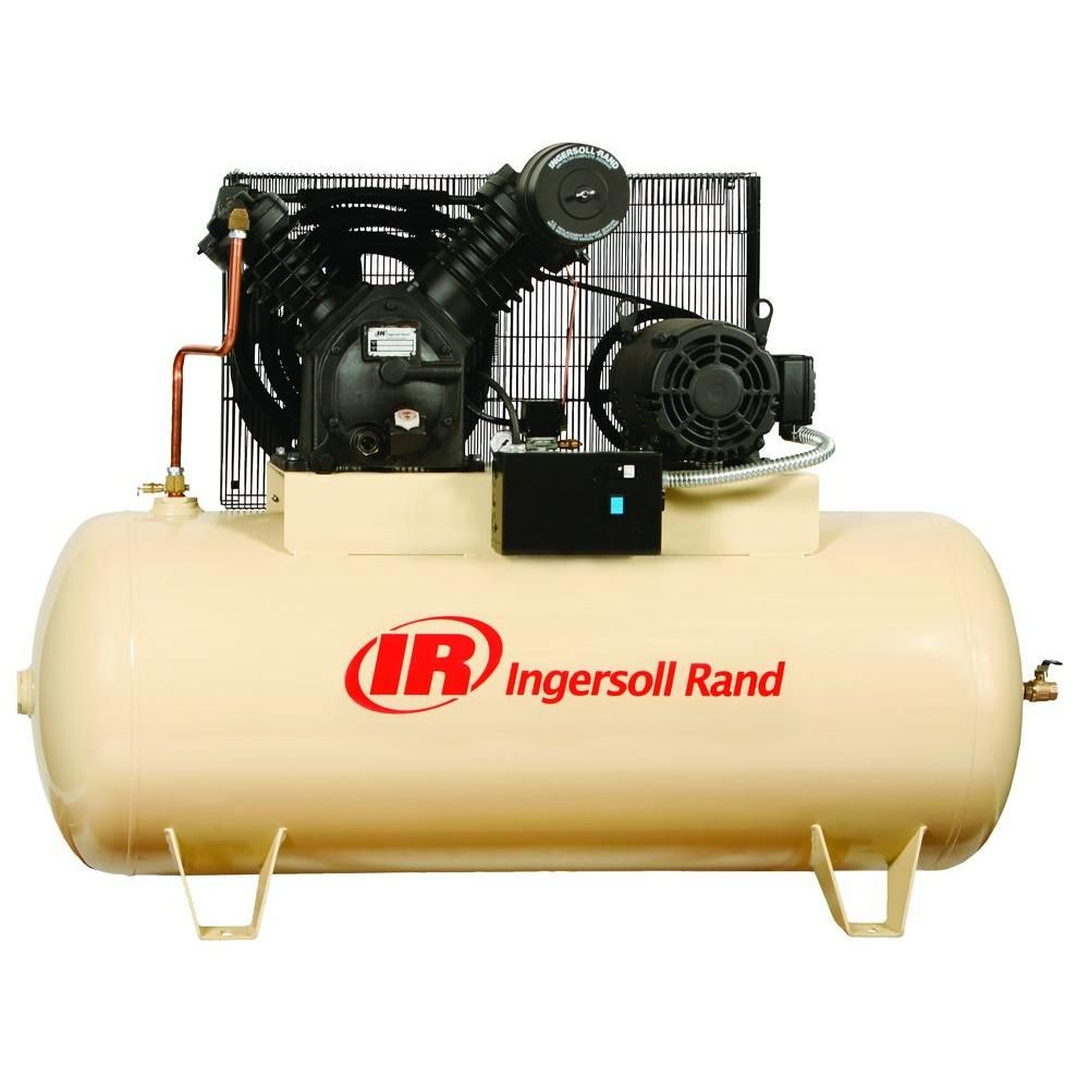 Ingersoll Rand Type 30 Reciprocating 120 Gal  10 HP Electric 230