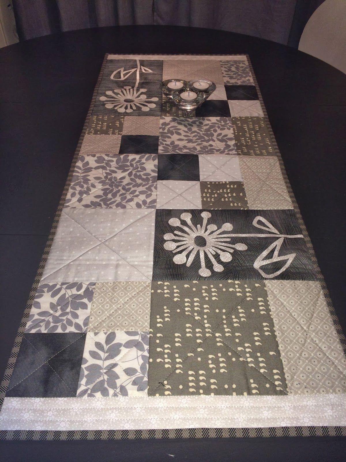 Lappekjeller'n Design: Løper i ulike grå, svart og hvite nyanser. Her har...