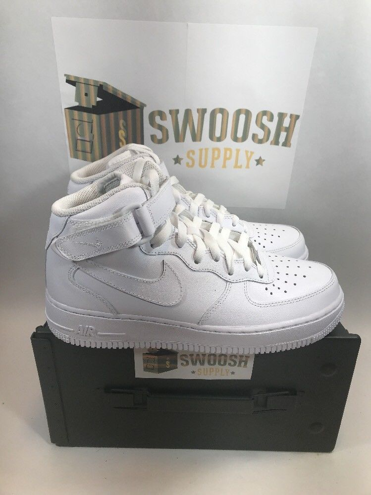 Wmns Nike Air Force 1 Mid 07 LE White AF1 Sneaker 366731-100 Sz 8.5 Or Mens  7  Nike  BasketballShoes c37932be4
