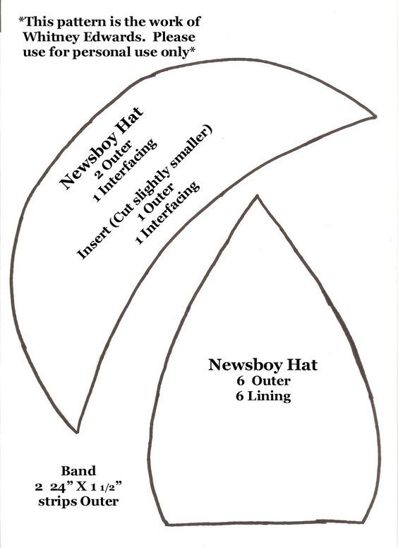 Whitney Sews: Newsboy Hat Pattern - Free pattern for adult - maybe ...
