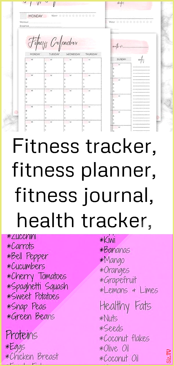 Fitness tracker fitness planner fitness journal Fitness tracker fitness planner fitness journal Diet...