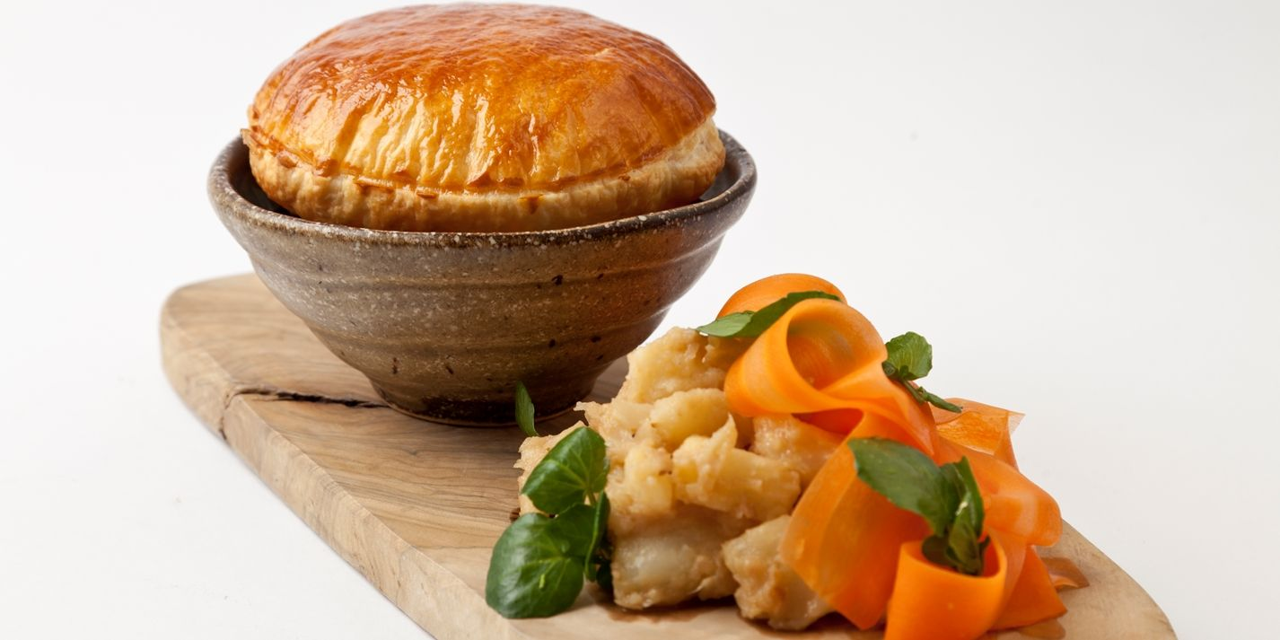 Steak and ale pie with caramelised celeriac | Recipe ...