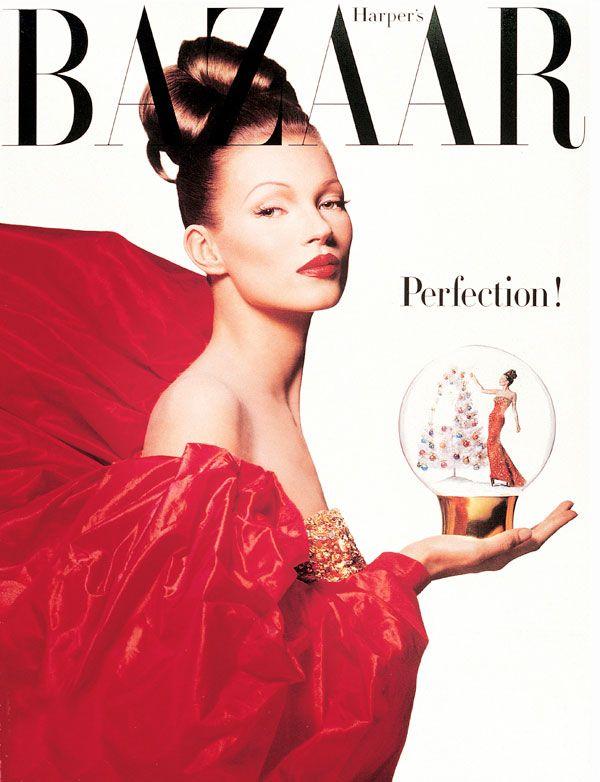 Kate Moss's BAZAAR Covers dec 1992