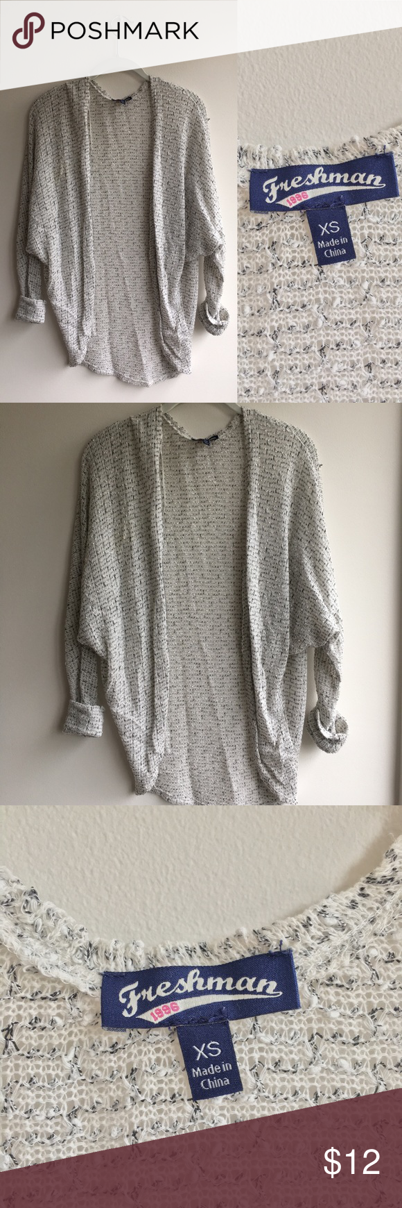 Slouchy White Cardigan Thin, slouchy cardigan that's great for ...