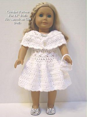 SP30 Crochet Pattern Shimmering Party Dress Fits American Girl Dolls ...
