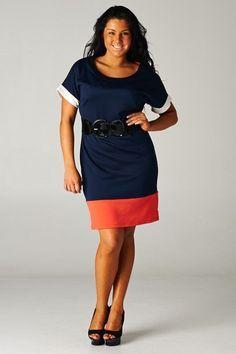 plus size coral and navy dress | best dress ideas | pinterest